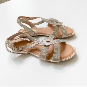 Forever Rosegold Sandals